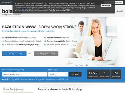 Bolanda.pl reklama dla Twojej strony