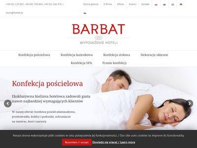 Barbat kołdry i poduszki hotelowe