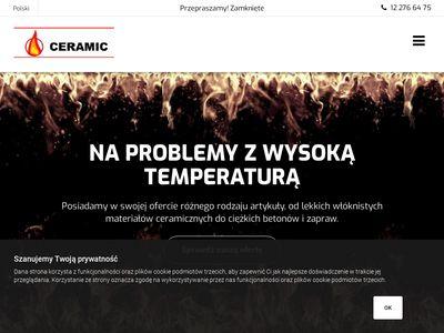 Ceramic - maty ogniotrwałe