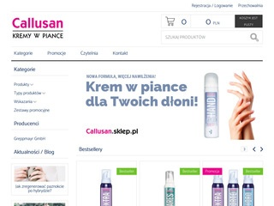 Callusan.sklep.pl - kosmetyki do stóp