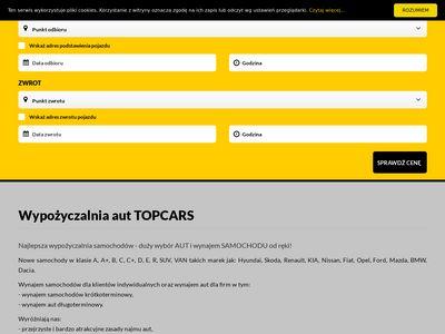 Top Cars wypozyczalnia samochodow Warszawa