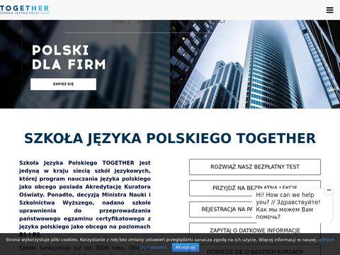 Together-school.pl kursy angielskiego