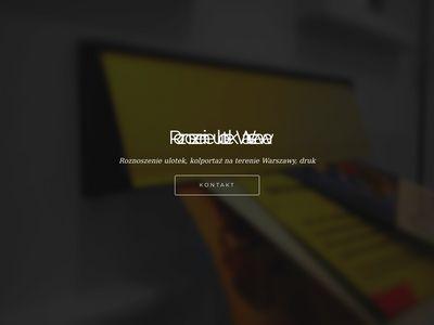 Roznoszenieulotekwarszawa.com
