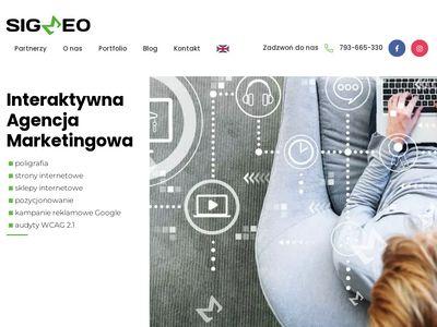 Sigmeo.pl tworzenie stron internetowych