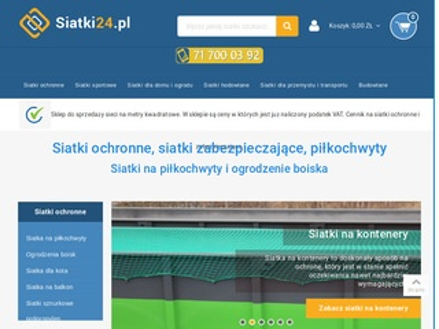 Siatki24.pl - siatki zabezpieczające