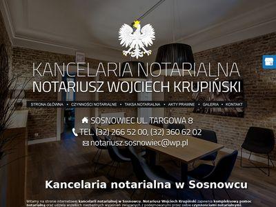 Sosnowiecnotariusz.pl Krupiński Wojciech