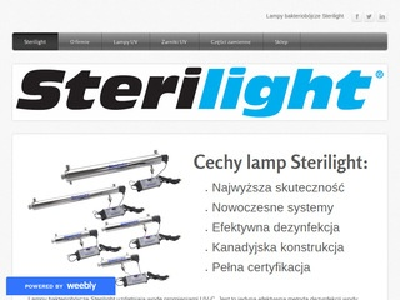 Sterilight.weebly.com - żarniki UV