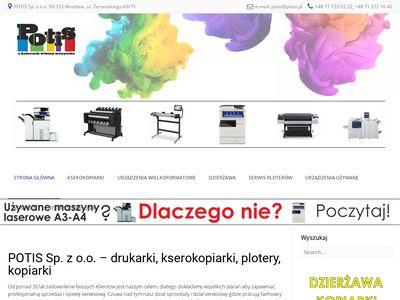 Potis.pl wynajem i serwis drukarek