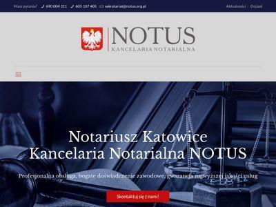 Notariusz Katowice - notus.org.pl