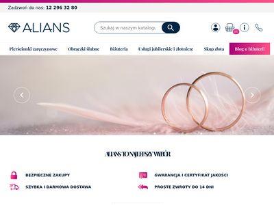 Obraczki.net.pl ślubne, sklep jubilerski