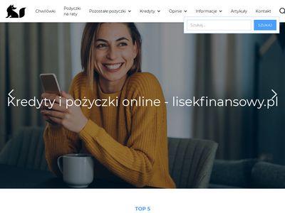 Lisekfinansowy.pl pożyczki online, kredyty