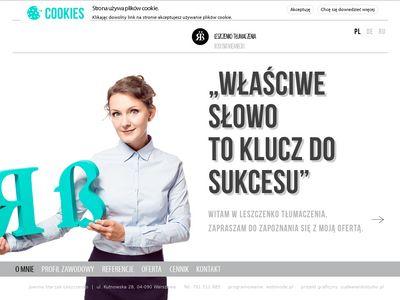 Leszczenko.pl tłumaczenia