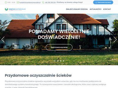 Montazoczyszczalni.pl oczyszczalnie ścieków