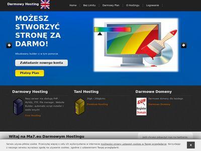Ma7.eu darmowy hosting
