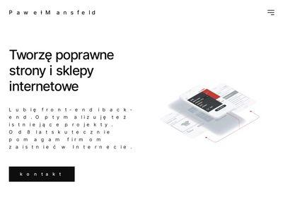 Mansfeld.pl - web design