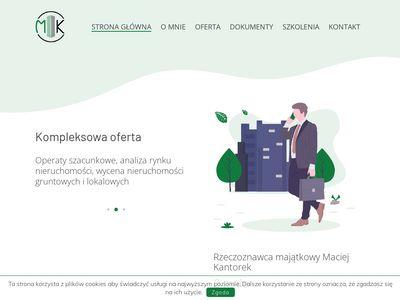 Maciejkantorek.pl - operat szacunkowy