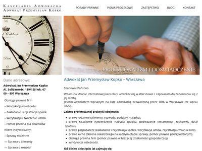 Kancelaria-kopko.pl adwokat Warszawa