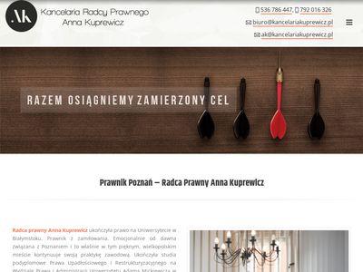 Kancelariakuprewicz.pl radca prawny Poznań
