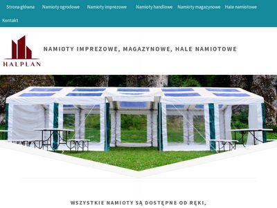 Halplan.pl namioty wystawowe, reklamowe