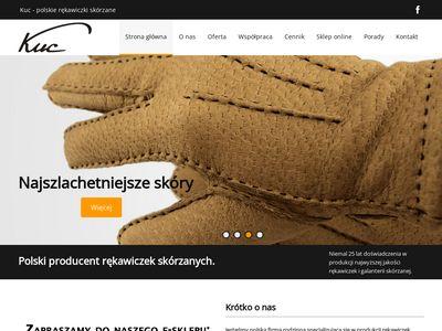 Rękawiczki skórzane - Firma Kuc