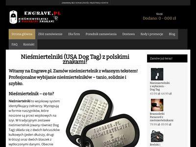 Engrave.pl - sklep z nieśmiertelnikami