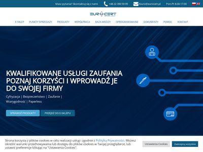 Eurocert.pl - podpisy elektrorniczne