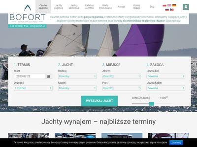 Bofort.pl - czarter jachtów na Mazurach