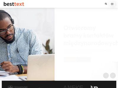 Biuro tłumaczeń naukowych - besttext.pl