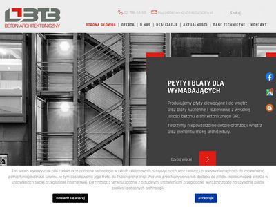 BTB obudowy kominków z betonu
