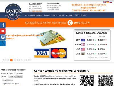 Kantor Cent sp. J. kantory Wrocław gbp