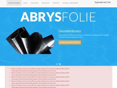 Abrysfolie.pl - geomembrany i folie pehd