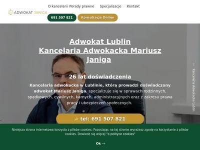 Adwokatjaniga.pl kancelaria prawna Lublin