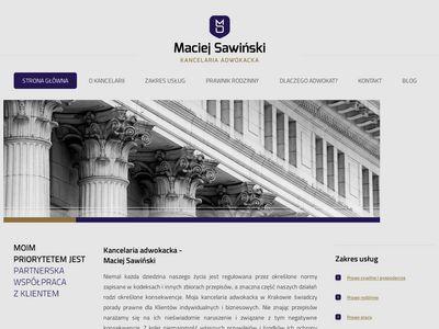 Maciej Sawiński kancelaria adwokacka
