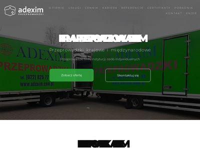 Adexim.com.pl przeprowadzki Warszawa