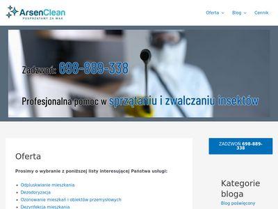 Arsen-lodz.com.pl pluskwy domowe Łódź