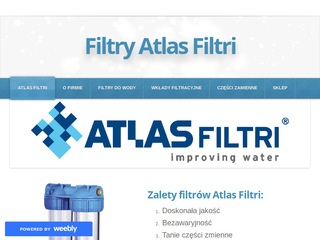 Atlasfiltri.weebly.com - filtry do wody
